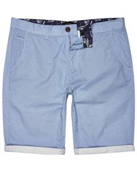 River Island - Light Blue Ditsy Print Chino Shorts for Men - Lyst