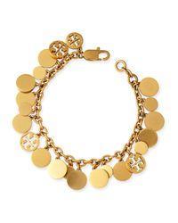 Tory Burch | Metallic Logo-disc Charm Bracelet | Lyst