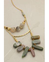 Anthropologie - Green Layered Silkstone Necklace - Lyst