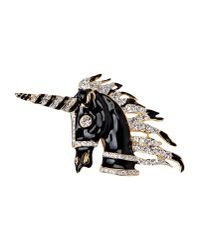 Kenneth Jay Lane | Black Brooch | Lyst