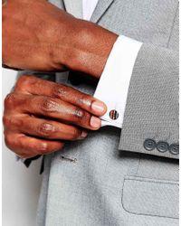 Paul Smith | Multicolor Button Stripe Cufflinks for Men | Lyst