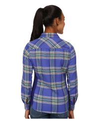 Marmot | Blue Maci Flannel Long Sleeve | Lyst
