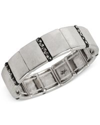 Kenneth Cole - Metallic New York Silver-tone Pave Stretch Bracelet - Lyst