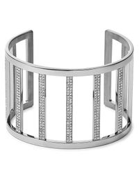 Michael Kors | Metallic Wide Pave Bar Cuff | Lyst