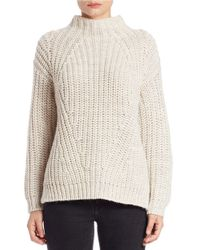 Sanctuary - Metallic Chunky Ribbed Mockneck Sweater - Lyst