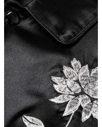 TOPMAN - Tmd Black Let's Riot Patch Leather Jacket* for Men - Lyst