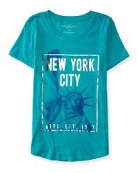 Aéropostale | Blue Lady Liberty Graphic T | Lyst