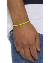 Caputo & Co. - Yellow The Bright Braided Bracelet for Men - Lyst