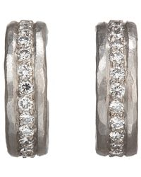 Malcolm Betts | Metallic White Diamond & Hammered Platinum Half | Lyst