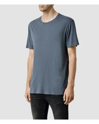 AllSaints | Blue Mattiaf Crew T-shirt for Men | Lyst