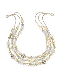 INC International Concepts | Metallic Gold-tone Beaded Multi-row Necklace | Lyst