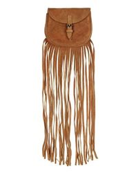 TOPSHOP | Brown Fringe Suede Crossbody Bag | Lyst
