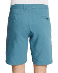 Onia - Blue Abe Linen/Cotton Shorts for Men - Lyst