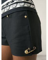 Versus - Black Safety Pin Detail Shorts - Lyst