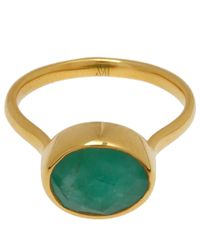 Monica Vinader - Metallic Gold-plated Emerald Candy Ring - Lyst