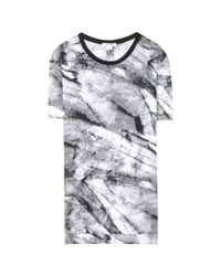 Helmut Lang | Gray Printed Silk T-shirt | Lyst