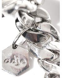 Ann Dexter-Jones - Metallic Diamond, Onyx & Sterling Silver Id Bracelet - Lyst