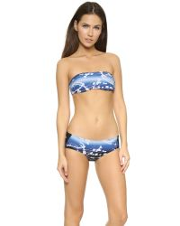 Zero + Maria Cornejo - Blue Swim Night Sky Bandeau Top - Night Sky - Lyst