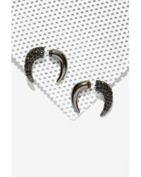 Nasty Gal | Black Cocoa Jewelry Hartley Tusk Tunnel Earrings | Lyst