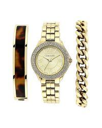 Anne Klein - Metallic Boxed Round Bracelet Watch & Bracelets Set - Lyst