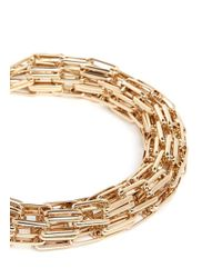 Kenneth Jay Lane | Metallic Multi Chain Tube Necklace | Lyst