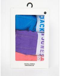 Jack & Jones - Multicolor 3 Pack Trunks for Men - Lyst