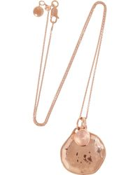 Monica Vinader | Pink Siren and Riva Rose Goldplated Quartz Necklace | Lyst