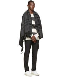 DIESEL - White And Grey K_wylde Sweater for Men - Lyst