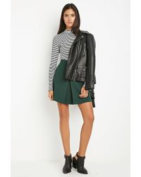 Forever 21   Green Contemporary Paneled Crepe Skirt   Lyst
