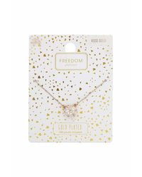 TOPSHOP | Metallic Rose Gold Plated Necklace | Lyst