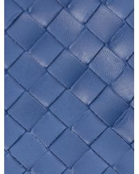 Bottega Veneta | Blue Intrecciato Woven Leather Wallet | Lyst