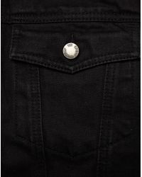 Cheap Monday - Black Denim Jacket With Faux Fur Lining for Men - Lyst