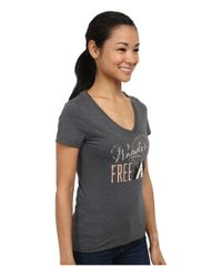 Patagonia - Gray Wander Free Cotton/poly T-shirt - Lyst