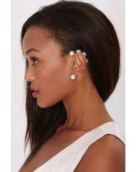 Nasty Gal - White Bond Hardware Atta Pearl Ear Cuff - Lyst