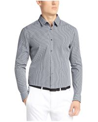 BOSS Green - Blue Regular-fit Casual Shirt In Cotton: 'c-buster' for Men - Lyst