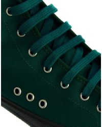 YMC - Green Canvas Mid Trainers for Men - Lyst