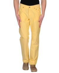 Jeckerson - Yellow Casual Trouser for Men - Lyst
