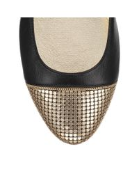 Jimmy Choo | Black Waine Embellished Leather Ballet Flats | Lyst