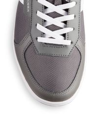 Creative Recreation | Gray Leather Contrast Stripe Sneakers for Men | Lyst