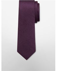 Calvin Klein | Purple White Label Steel Mesh Micro Dot Tie for Men | Lyst