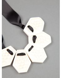 Marni - Metallic Ribbon Necklace - Lyst