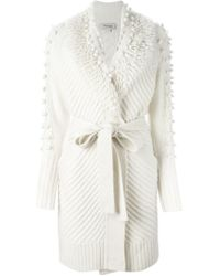 Temperley London - Natural Belted Cardigan - Lyst