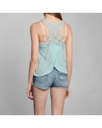 Abercrombie & Fitch - Blue Breana Lace Tank - Lyst