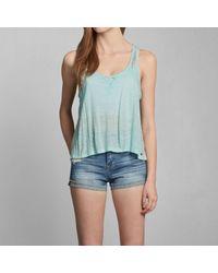 Abercrombie & Fitch - Blue Breana Lace Tank - Lyst