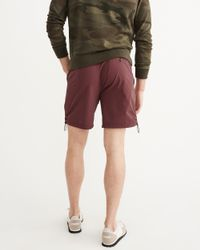 Abercrombie & Fitch - Red Sport Nylon Shorts for Men - Lyst