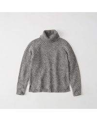 Abercrombie & Fitch - Gray Shaker Turtleneck Sweater Exchange Color / Size - Lyst