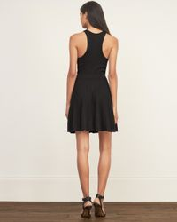 Abercrombie & Fitch - Black Racerback Skater Dress - Lyst