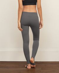 Abercrombie & Fitch - Gray Stirrup Legging - Lyst