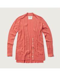Abercrombie & Fitch   Orange Lightweight Boyfriend Cardigan   Lyst
