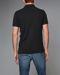 Abercrombie & Fitch - Black Pop Icon Polo for Men - Lyst